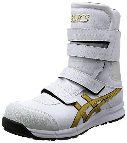 [アシックス] ワーキング 安全靴/作業靴 ウィンジョブ CP401 JSAA A種先芯 耐滑ソール αGEL搭載 ホワイト/ゴールド 24.0