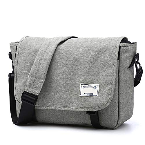 RongDuosi Heren Schoudertas Messenger Bag Canvas Aktetas Mode Casual Tas Vintage Stijl Student Schoudertas Outdoor rugzak Zwembed