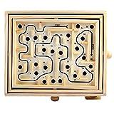 BAFEYU Laberinto de Madera Tilt Maze Game Maze Toy Table Maze Balance Board para niños y Adultos
