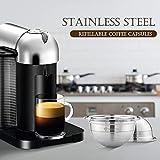 Galapar Cápsulas de café de Acero Inoxidable Vertuoline Pod Filters Cup 70ml Volumen de preparación Cápsula de café Reutilizable Reutilizable Cofre Set para Nespresso Vertuoline GCA1 Delonghi ENV135