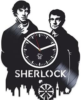 Kovides Sherlock Holmes Movie Detective Serial Vinyl Wall Clock Home Decor, Decoration Living Room Inspirational, Wall Stickers, Vinyl Wall Clock with Silent Mechanism, Home Decor, Modern Art