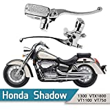 B00RUE5CUW SMT-Chrome Brake Clutch Skull Hand Lever Compatible With Honda Shadow 600 750 1100 Magna 750