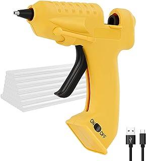 改良版 グルーガン Oture USB充電式 コードレス 接着剤道具 高温 強力粘着 DIY 手芸用スティック30本付き 木材/紙/皮革/プラスチック用