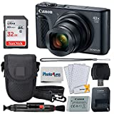Canon PowerShot SX740 HS Digital Camera (Black) + 32GB Memory Card + Point & Shoot Case + USB Card Reader + Lens Cleaning Pen + LCD Screen Protectors + Photo4Less Cleaning Cloth – Accessory Bundle