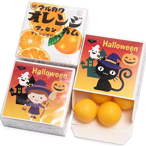 ハロウィン マルカワ ガム 24個入 Halloween お菓子 おかし 配る (オレンジ味) タイプ2 (オレンジ味)