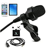 BIack Friday Deals - Professional Mini Lavalier Microphone For iPhone & Android - Omnidirectional Lapel Mic For Recording Youtube, Video Conference, Podcast, Voice Dictation - [118 inches Extra Wire]