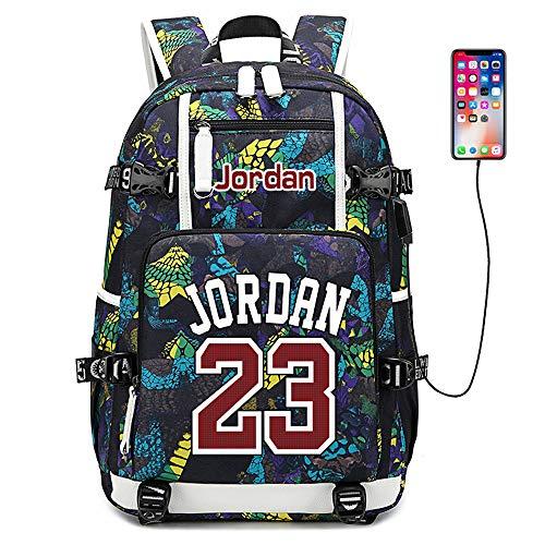 Lorh's store Basketballspieler Star Jordan Multifunktionsrucksack Reisestudent Rucksack Fans Bookbag für Männer Frauen (B-Muster 3)