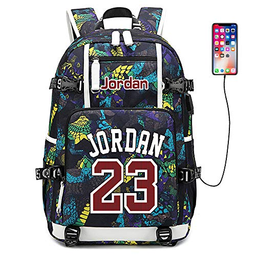Lorh's store Basketballspieler Star Michael Jordan Multifunktionsrucksack Reisestudent Rucksack Fans Bookbag für Männer Frauen (Stil 6)