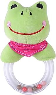 Plush Cartoon Animal Doll Frog Hand Stick Baby Toy Children's Gift Cartoon Teether Plush Ring Rattle