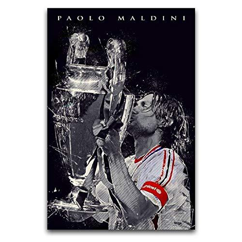 LANMPU Paolo Maldini Poster Quadro Decorativo Tela Da Parete CorridorDancing GymStudy Room Decor Poster 30 x 45 cm