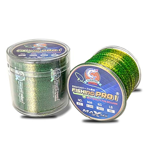 Fishing pro1 Fishing line 500m Speckle carp Fishing Line Thread Line 3D Invisible Camouflage Nylon Rubber Thread Fishing Line Algae Line (10 POUNDS)