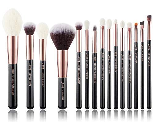 Or rose/noir Brosse de maquillage (Handle Color : T162(15PCS))