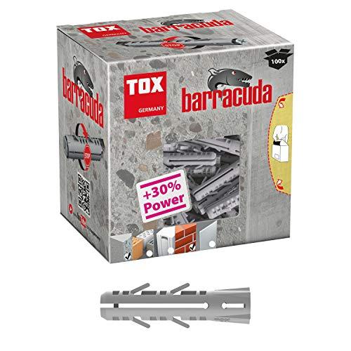 TOX Spreizdübel Barracuda 6 x 30 mm, Dübel für Vollbaustoffe, 100 % Nylon, 100 Stück, 013100041