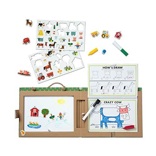 Melissa & Doug Natural Play: Play, Draw, Create Reusable Drawing & Magnet Kit  Farm