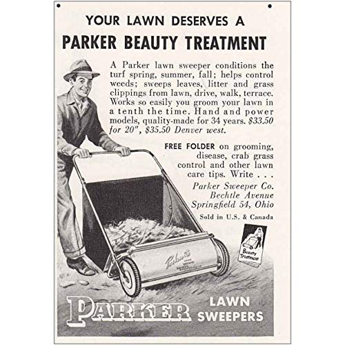 RelicPaper 1954 Parker Lawn Sweepers: Parker Beauty Treatment, Parker Lawn Sweepers Print Ad
