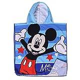 Toalla de Playa con Capucha de Microfibra Activa para niños de Dibujos Animados 60 * 120cm Mickey