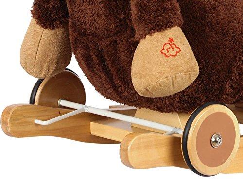 Dunjo® Baby Schaukeltier Pferd mit Sitz, Rollen, Soundmodul, 66283 - 3