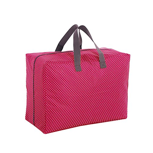 Harson&Jane Organiser étanche Voyage en tissu 600D Oxford de haute qualité sac de stockage organisateur pour la maison de déménagement literies (Rouge)