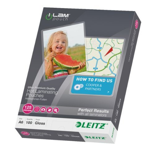 Leitz iLAM 125 Micron A6 Hot Laminating Pouches (Pack of 100) by Esselte