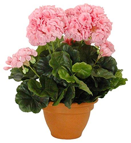 Mica decoratieve kunstplant, polyester, roze, h38xd30cm