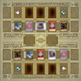 Livoty New 60x60cm Rubber Play Mat Egypt Mural Style Competition Pad For Yu-gi-oh Card Puzzle Playmat (Brown)