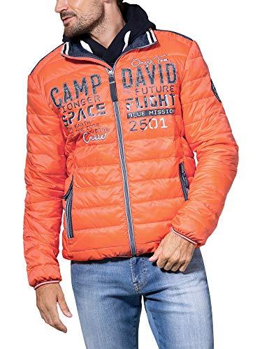Camp David Herren Steppjacke mit Tapes und Artwork