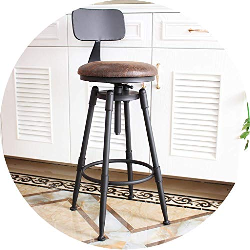 CHAIR Silla Bar, cafetería, silla de restaurante, taburetes de bar Taburete de bar Silla para cocina Pub Café Desayunador redondo Asiento ajustable en altura y giratorio Carga máxima 200 kg,# 4