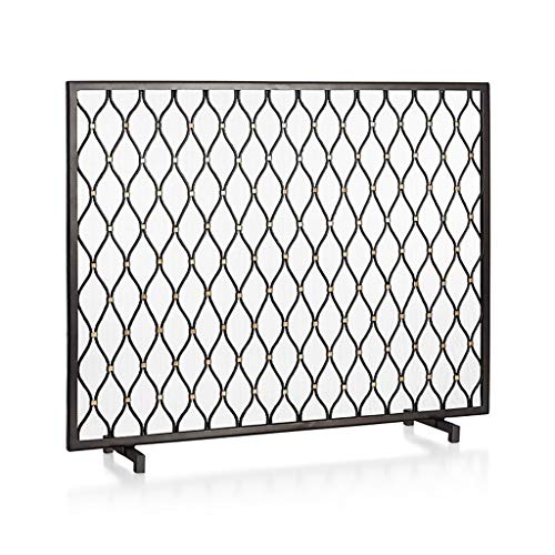 Best Review Of Fireplace Screen American Simple Wrought Iron Fireplace Door New Black Decorative Flo...