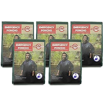 Emergency Poncho, Emergency Rain Gear, Weather Protection, Emergency Zone ® Brand