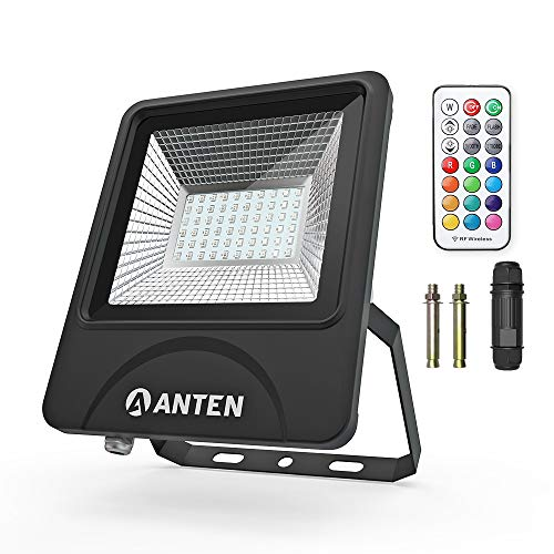 Anten Proiettore Luce LED Faretto Per Esterno 50W RGB SMD 3030 Impermeabile IP66 Per Giardino Balcone Terrazzo Portico Cantiere