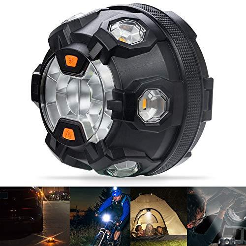 Bawoo Notfallleuchte für Auto, 400 lm, Warnleuchte, 8 Leuchtarten, Bernsteinfarben, LED, Warnung, 3 Helligkeitsstufen, weißes Licht, Taschenlampe wasserdicht IP65 für Auto