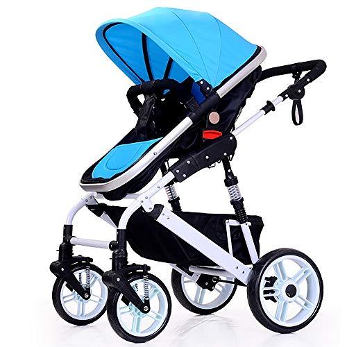 GAOJI High Landscape Baby Stroller Two-Way Sitting Folding Baby Car Good Child Stroller Baby Stroller Light Four Wheel Explosion-Proof Wheel Large Storage Basket
