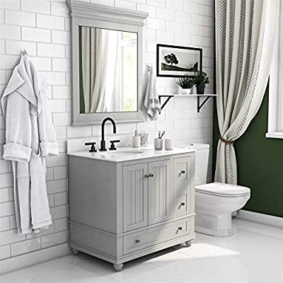 """Dorel Living Monteray Beach 36 Inch, Gray Bathroom Vanity, 36"""""""
