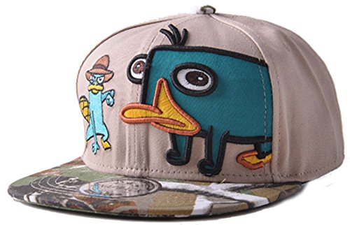Belsen Kind Schnabeltier Karikatur Hip-Hop Cap Baseball Kappe Hut Truckers Hat, Khaki, Erwachsene