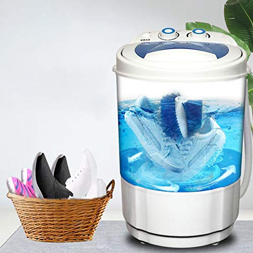 FEENGG Schuhwaschmaschine, Mini Lazy Automatische Desinfektion Schuhe Waschmaschine für Apartment Hotel Wohnheim Camping Ideal, 1-2 Pairs