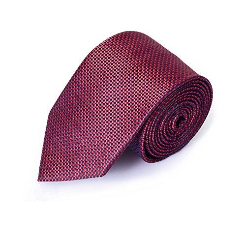 Lino Perros Men's Silk Tie Set (Pack of 3)(LMCO00523MAROON-Free Size)