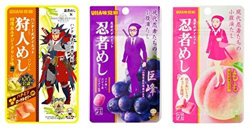 UHA味覚糖 忍者めし アソート 3種10個セット(回復系エナジードリンク×4・巨峰×3・もも×3)