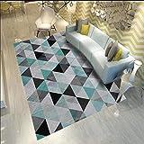 Alfombras para Exterior Diseño de Estilo Fresco de Alfombra de salón de triángulo pequeño denso Verde Alfombras Dormitorio Pie De Cama Resistente A Los Ácaros insonorizar Interiores Alfombraes Verde