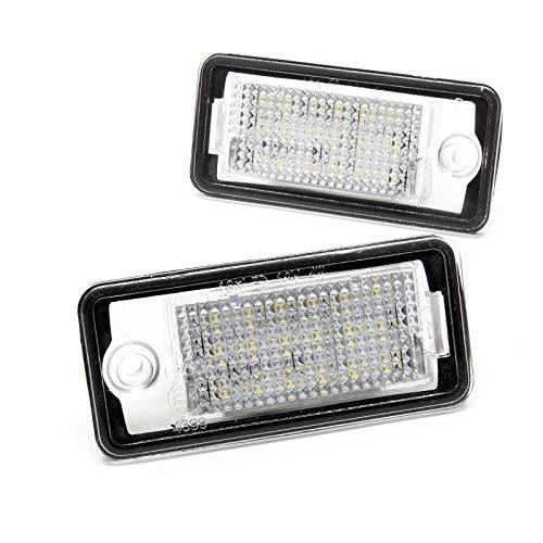 Kennzeichenbeleuchtung 2er-Set Beleuchtung Nummernschild kompatibel mit Audi A3 8P A4 8E SMD LED