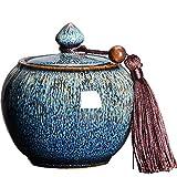 MUJING Urna de cremación Media por urna funeraria para Cenizas de Perro/Cenizas de Gato y urnas de Mascotas