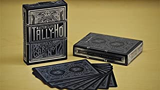 Gamblers Warehouse Playing Cards   Tally-Ho Masterclass (Black) Playing Cards   Custom Design   Collectable