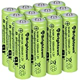 NiMH Rechargeable AA Battery, Pack of 12 High Capacity 1000mAh 1.2v Pre Charged Double A Battery for Solar Lights, Battery String Lights, TV Remotes, Wireless Mouses, Radio, Flashlight