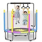 Trampoline avec Enclos De Sécurité, Trempoline D'extérieur Et Printemps De Tambour De Taille, Trampoline Enfant pour Mini Trampolines D'intérieur À L'intérieur pour Enfants Charge 200 Kg (Color : A)