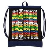 Disney Parks Walt Disney World Logo Cinch Sack Drawstring Backpack Bag