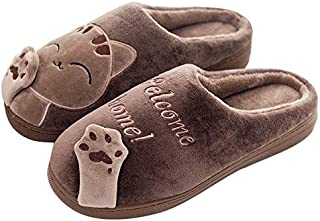 YANGLAN Children's cotton slippers non-slip soft-soled winter cute cartoon princess Zhongshan University boys and girls children shoes indoor home Household slippers (Color : E, Size : (40~41))