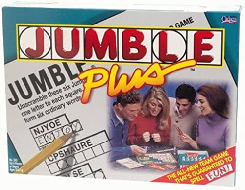 Jumble Plus crossword game by Cadaco