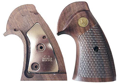 タナカ +Weight グリップシリーズ パイソン オーバーサイズ アメリカンウォールナット チェッカーグリップ