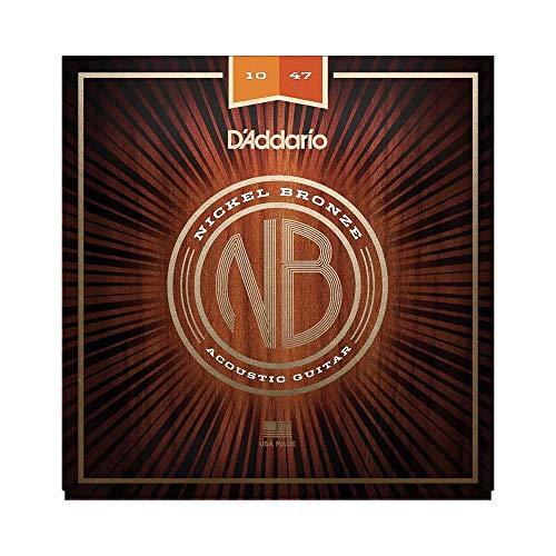 D'Addario NB1047 Nickel Bronze Akustik Gitarre Saiten (Extra Light, 10-47)