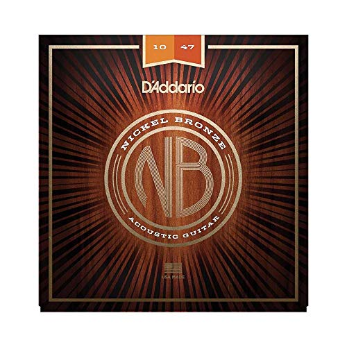 D'Addario NB1047 Nickel Bronze Akustik Gitarre Saiten (Extra Light, 10-47)