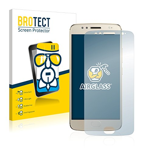 BROTECT Panzerglas Schutzfolie kompatibel mit Motorola Moto G5S - AirGlass, extrem Kratzfest, Anti-Fingerprint, Ultra-transparent
